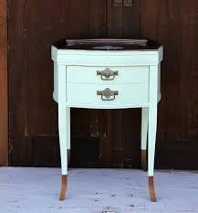 Metallic Copper and Mint Green Two Tone Painted Table