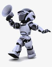 robot hd with a horn robot clipart hold the trumpet robot png image