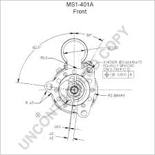 leece neville ms1 401a front dim drawing