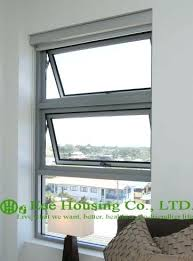 clear tempered safety glass aluminum awning window for apartment villas white color frame in windows from