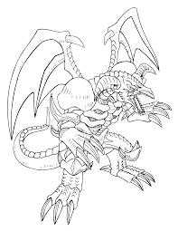 Yugioh Paradijs Kleurplaat Black Skull Dragon