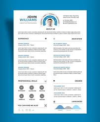 Resume Professional Resume Cv Clean And Design Template Free Psd