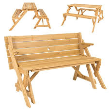 best choice s patio 2 in 1 outdoor interchangeable picnic table garden bench wood