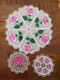 Free Standing Lace Embroidery Designs Free Rose Fsl Rose Doily 3 Free Standing Lace Doily Embroidery