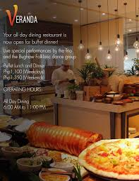 your all day dining restaurant is now open for buffet dinner