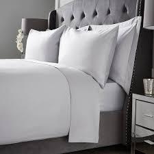 hotel living 1000tc double flat sheet ice grey