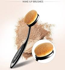 details about fashionable super soft oval toothbrush foundation contour powder makeup blush