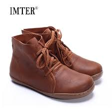 35 46 women ankle boots plus size hand made genuine leather woman