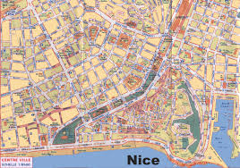 nice maps  france  maps of nice