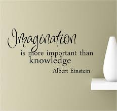 Imagination Is More Important Than Knowledge Albert Einstein Vinyl Wall Art Inspirational Quotes Decal Sticker