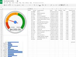 Stock Record Keeping Excel Sheet How To Create A Dividend Tracker Spreadsheet Dividend Meter