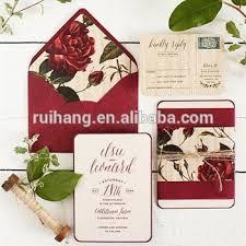 Diy Rose Flower Wedding Invitation With Liners Envelope Wedding