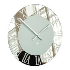 Small Picture Modern Wall Clocks At Contemporary Heaven Mirror Clocks UK