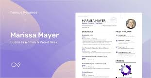 Marissa Mayer Resume Mesmerizing Marissa Mayer's Yahoo CEO Resume Example Enhancv