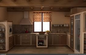 Rustic Lodge Kitchen Design Rustic Backsplash Big Island Grey Island