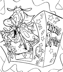 Cow And Chicken Coloring Page Cow And Chicken Printable All Kids