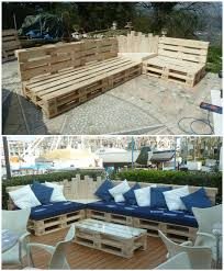 furniture out of wooden pallets. we built this outdoor pallet sectional set out of 12 pallets and it took us furniture wooden
