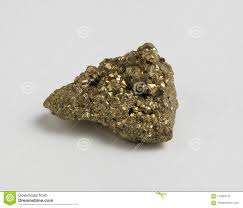 Sulfide Minerals Ore Pyrite On White Background Stock Image Image Of Detail