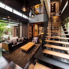 Image Pipe Dark And Dashing Industrial Style Home With Fascinating Decor And Smart Lighting Pinterest Industrial And Modern Side By Side Two Houses In Bangkok
