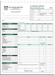 Work Invoices ANS Systems Manual Forms Landscape Landscaping Work order Invoice 11