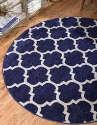 100cm x 100cm trellis round rug