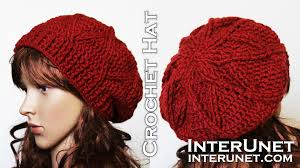 Crochet Patterns Hats Stunning How to crochet a hat slouchy hat crochet pattern YouTube