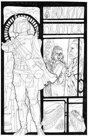 The Bounty Hunter Pencils And Inks