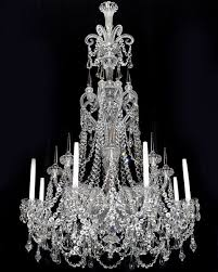 a fine quality eight light mid victorian cut glass antique chandelier by f c osl