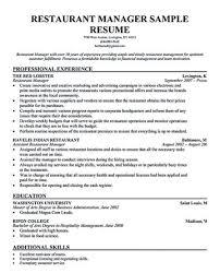 Franchise Owner Food Restaurant Modern Hospitality Management Resume ...