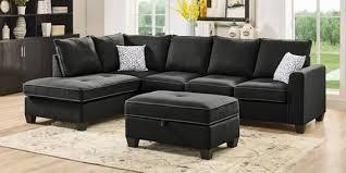 urban rhs fabric sofa with ottoman