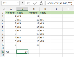countif formula example