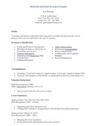 Hair Salon Receptionist Resume Sample In Duties Collection Of