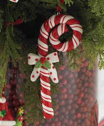 Large Candy Cane Decorations Candy Cane With Bow Christmas Tree Ornaments Tree Classics Outdoor 22