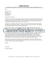 Elementary School Teacher Teacher Cover Letter Samples Letter Of
