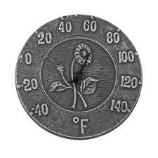 antique black terra cotta thermometer