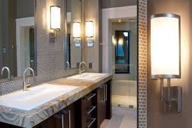 Custom bathroom lighting Trendy Bathroom Mommyblogdesignscom Aesthetic Custom Bathroom Lighting