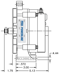 hdpsi powerline alternators powerline 24hd series alternator spindle mount specifications 24hd series spindle mount click illustration to enlarge