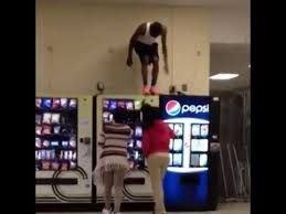 How To Steal From A Vending Machine Best Guy Steals Vending Machine Food By Stomping On Top Of It YouTube