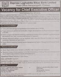 Chief Executive Officer , Banking / Financial, A Financial ...