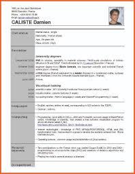6 Sample Application Resume Gin Education