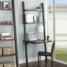 ladder deskth shelves writing on leaning modern home interiors tag stanton style desk with and uk
