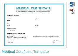 Medical Certificate For Sick Leave New Template Doctors Certificate Sick Leave Template Doctor For Medical