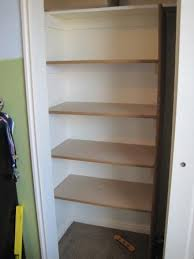 how to build closet storage shelves finished