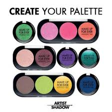 make up for ever new artist shadows photos swatches dels