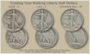 Half Dollar Worth Chart Walking Liberty Half Dollar Grading Half Dollar Old Coins