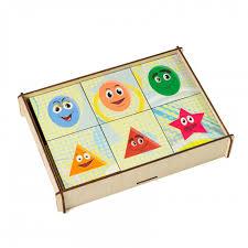 <b>Деревянная игрушка Paremo Игровой</b> набор Мемори Геометрия ...