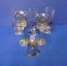 hand blown romanian party lite glassware