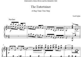 This score may be usefull to those who want to play. The Entertainer Piano Sheet Music