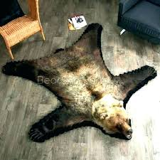 fake animal skin rugs with head bear skin rug faux fake for nursery bearskin 5 foot fake animal skin rugs with head