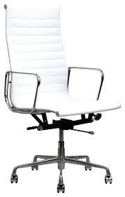 office chair white leather. Ivory Leather Desk Chair Ripple Office Wooden White . A